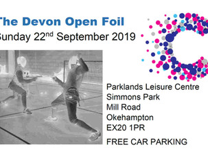 The Devon Open Foil Sunday 22nd September 2019