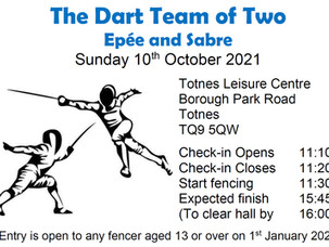 The Dart Team of Two Epée and Sabre Sunday 10th October 2021