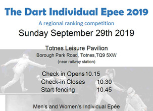 Dart Individual Epee Sunday 29th September 2019