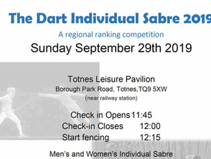 Dart Individual Sabre Sunday 29th September 2019