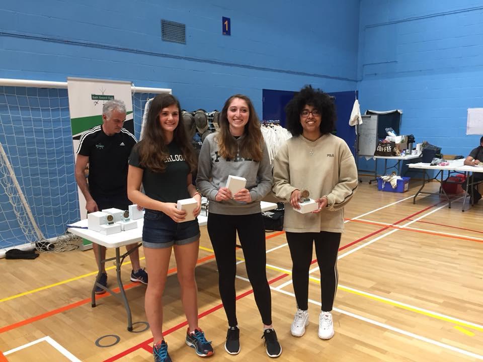 Devon Women's Epee Team Winners Excalibur 2018