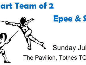 The Dart Team of 2 (Epee & Sabre) Rescheduled to July 28th.