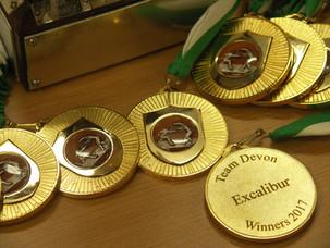 Presentation of Celebration Medals to Devon 2017 Excalibur Team Members