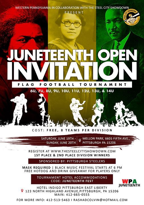 open invitation flag football tournament
