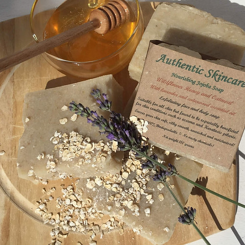 The Wildflower Honey and Oatmeal Exfoliating Bar