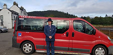 Taxi George Dunoon Big Red with Taxi Geo