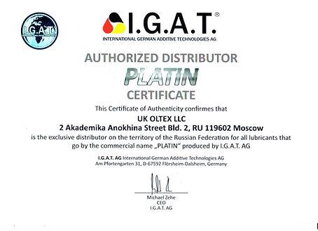 Distributorenzertifikat_Platin IGAT_UK O