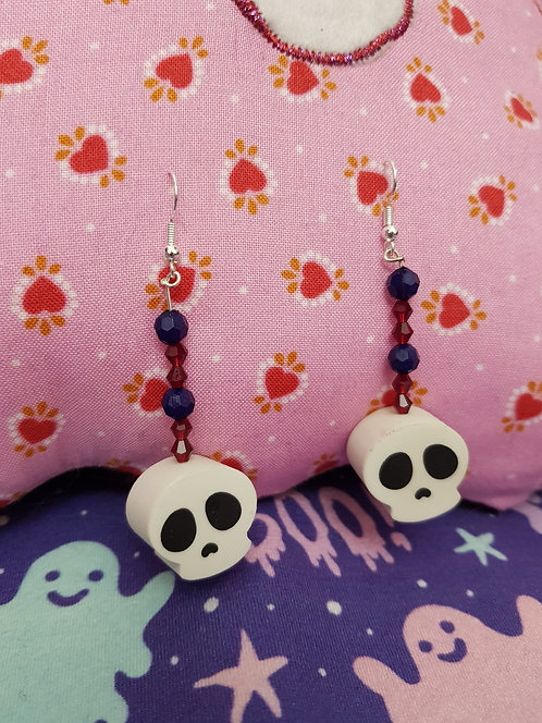 Skull Eraser Earrings