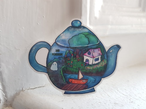 Ghost Garden Teapot