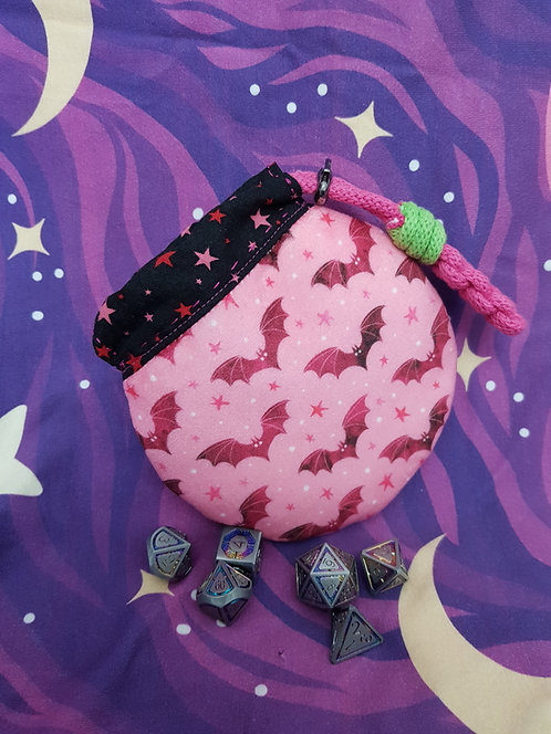 Valentine's Bat Dice Bag
