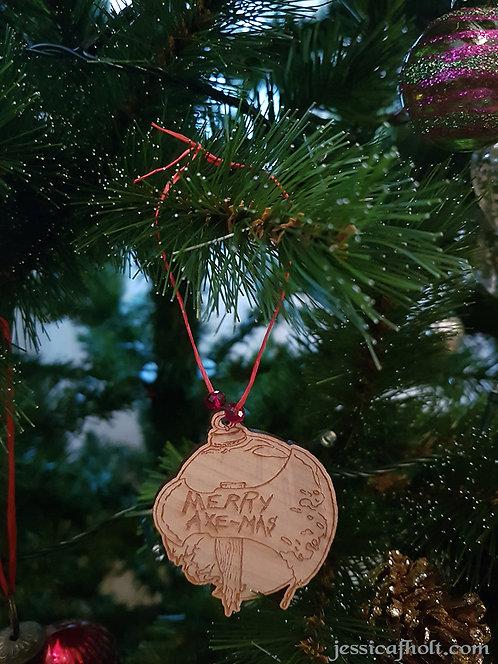 Merry Axe-Mas Ornaments