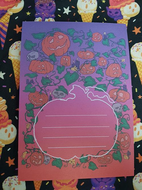 A5 Halloween Notepad