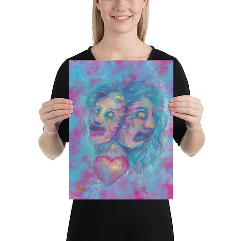 Two Faced Print