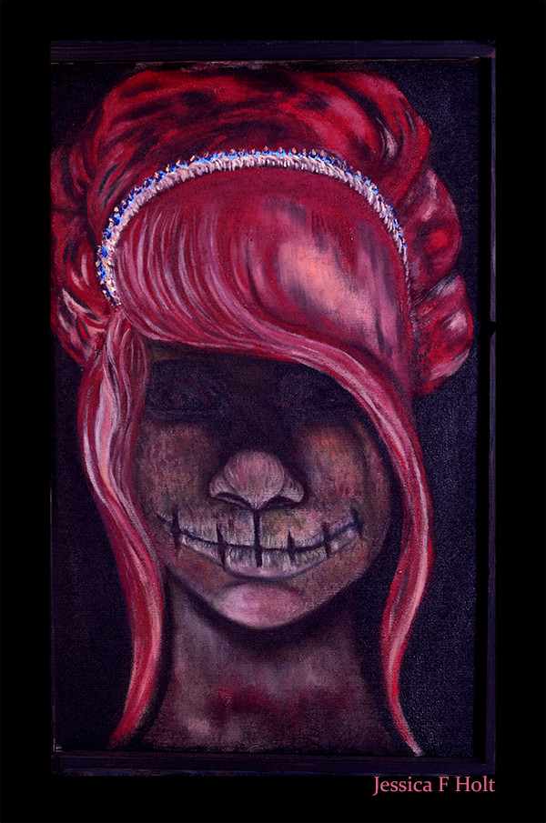 Zombie Princess-Oil paint on Canvas