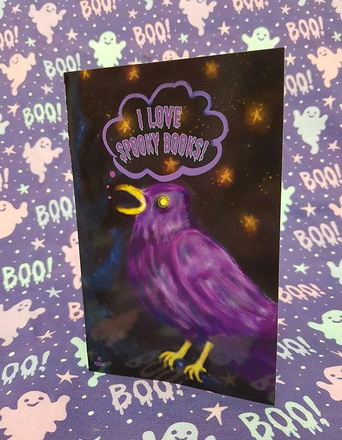 I Love Spooky Books Card
