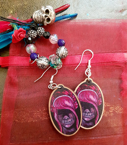 Zombie Princess Earrings