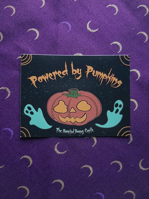Powered by Pumpkins Sticker
