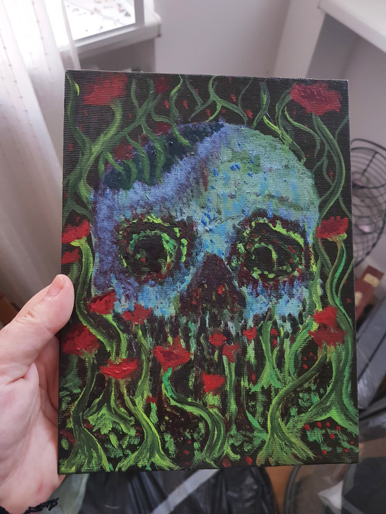 Skull in the Garden