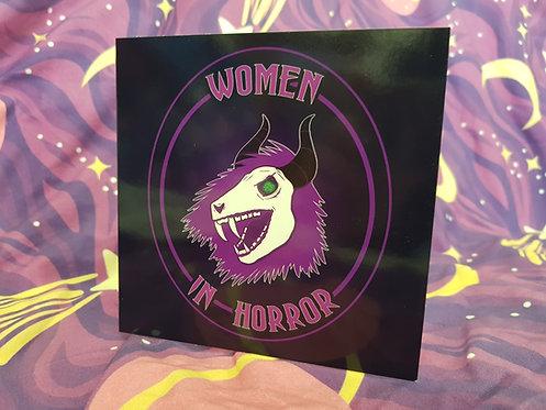Women in Horror Card Purple