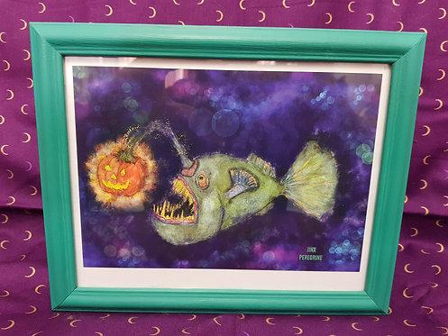 Halloween Angler Fish A5 Print