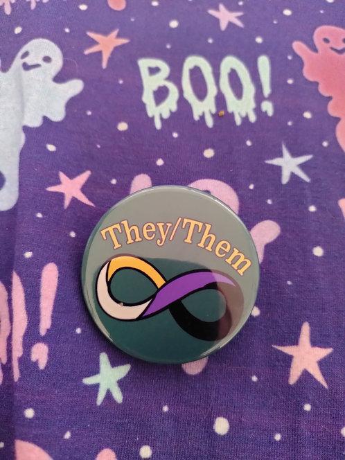 Autistic Spectrum Pronoun Badges