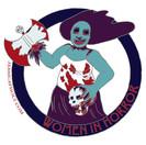 Women In Horror Pin Design
