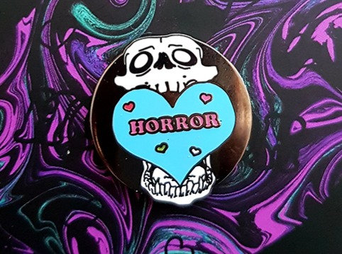 I Love Horror Enamel Pin