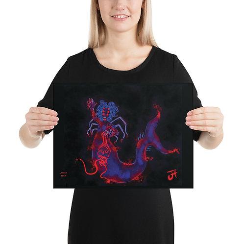 Spider Mermaid Print