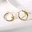 Thumbnail: Knotted Gold Hoops