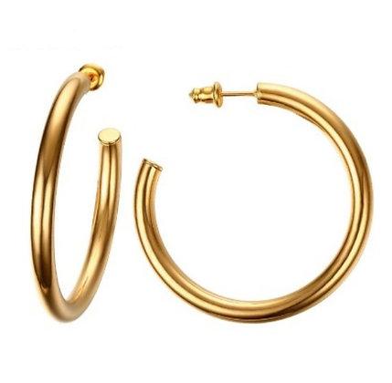 Classic Gold Flat Hoops