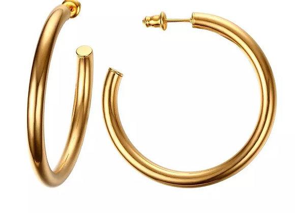 High polished Gold hoops
