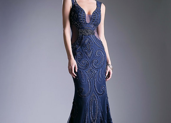 A-Line Beaded Dress- (Size 4)