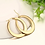Thumbnail: 35MM Gold Flat Hoops