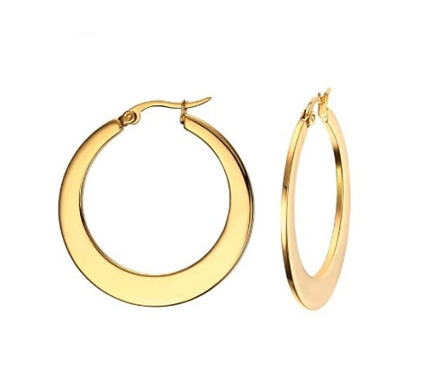 35MM Gold Flat Hoops
