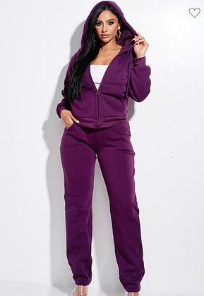 Lina Fleece Lined Jogger Set