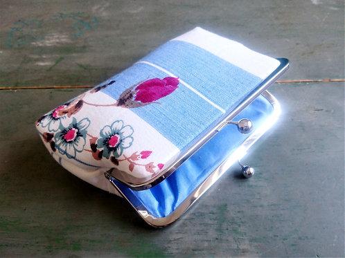 Rosa Vintage Linen Clutch Bag