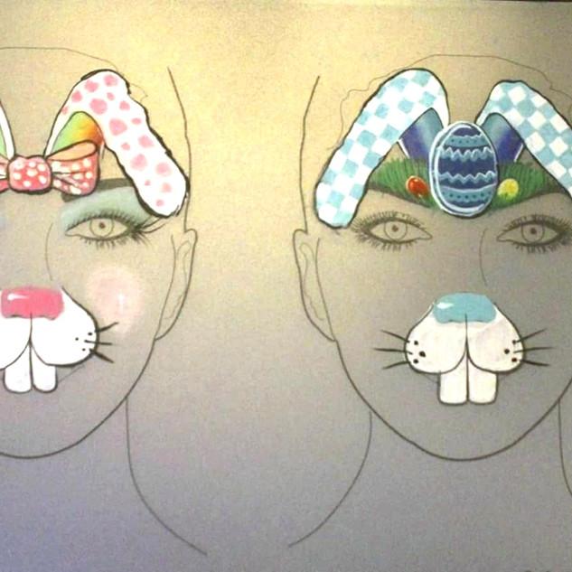 Face Art designed for an Easter Brunch!
