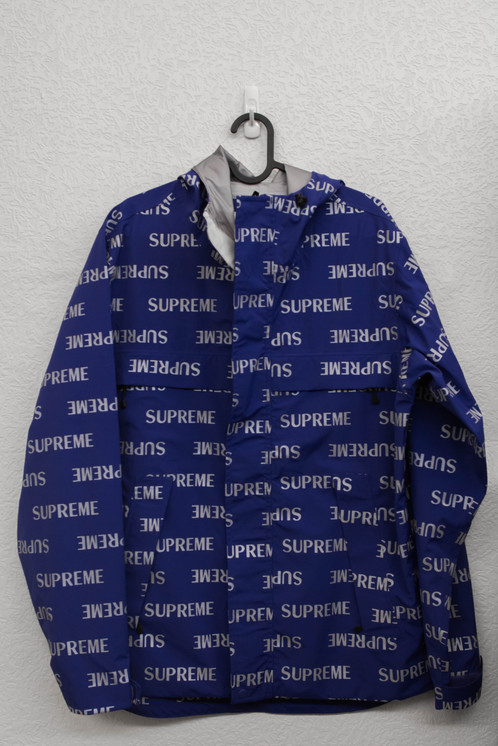 supreme 16aw 3M reflective repeat taped seam jacket