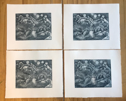 Ghost Print Edition Zinc Etchings