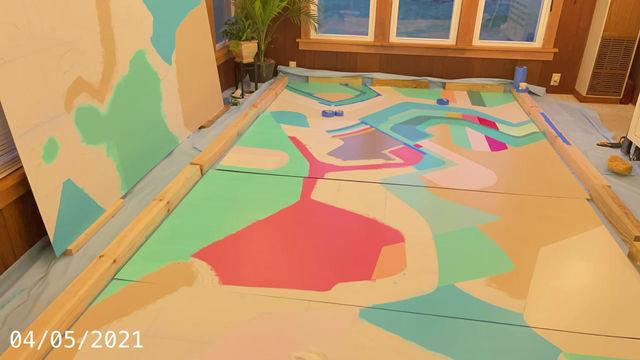 Mural painting, work in progress