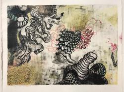 Wood lithograph print
