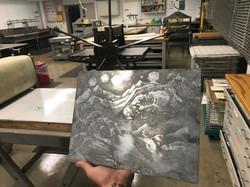 Zinc Plate, etched