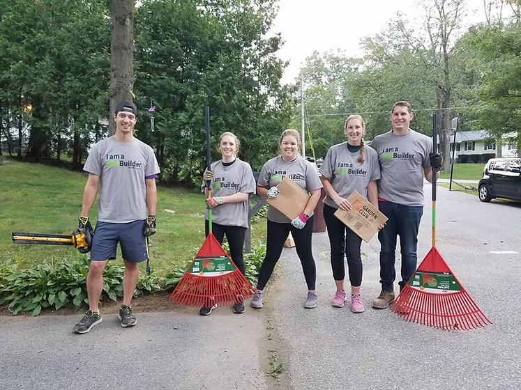 Volunteer landscaping project