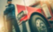 American Trucker Job. Caucasian Truck Dr