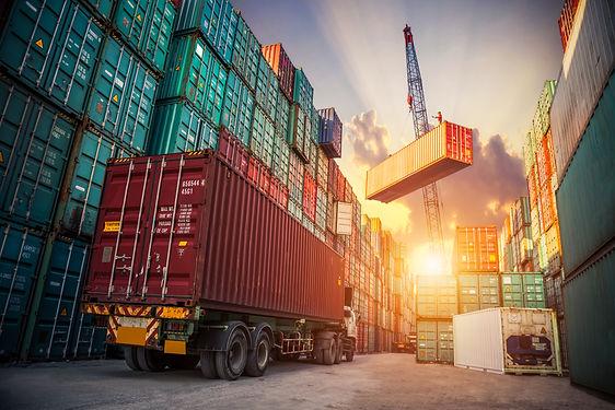 Business Logistics concept, map global p