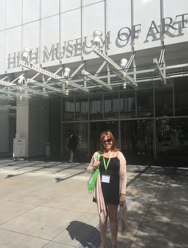 Ms. Christine Baldwin, attending a professional development seminar at the High Museum of Art.