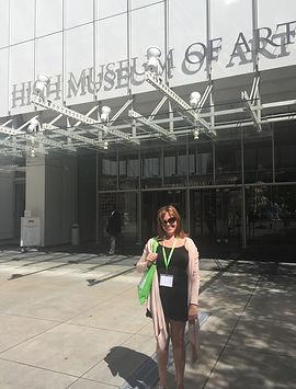 Ms. Christine Baldwin,attending a professional development seminar at the High Museum of Art.