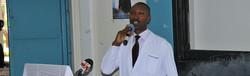 DR.Kibet giving a speech