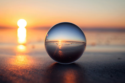 Crystal Ball Sand Sunset - Photo Print