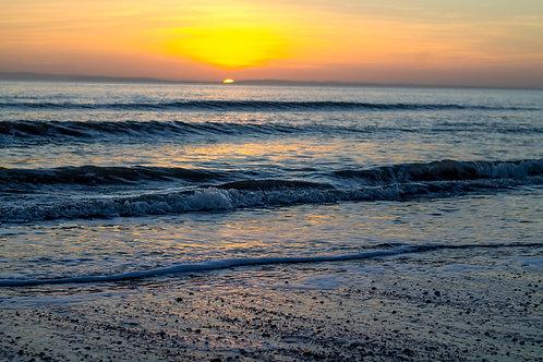 Waves At Sunset - Photo Print